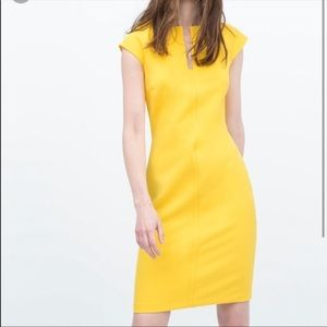 ZARA Poppy Yellow dress NWT Original price $74